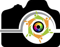 Couple camera logo Stock Photos