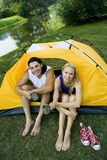 Couple camping Royalty Free Stock Image