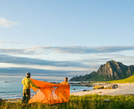 Couple camping Royalty Free Stock Photography