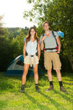 Couple on camping Royalty Free Stock Image
