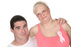 Couple cancer fight. A great couple together to fight the breast cancer stock image