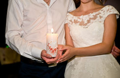 The couple and candle Royalty Free Stock Images