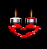 Couple of candles Stock Photos
