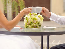 Couple with Cappuccino Stock Photography