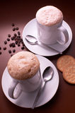 Couple of cappucino Royalty Free Stock Photos