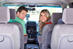 Couple in the car Stock Image