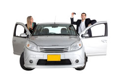 Couple with a car Stock Photography