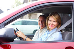 Couple in the car Royalty Free Stock Photography