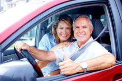 Couple in the car Royalty Free Stock Image