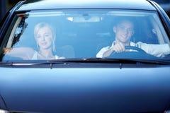 A couple in the car Stock Photos
