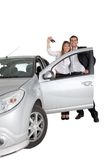 Couple with a car Royalty Free Stock Images