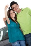 Couple with a car Royalty Free Stock Photography
