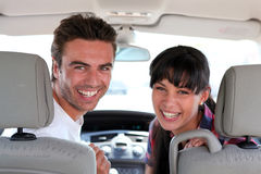 Couple in car Stock Photography