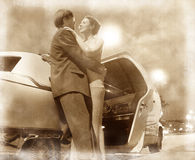 Couple and car Stock Images