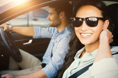 Couple in a car Stock Image