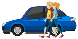 Couple and car Royalty Free Stock Image