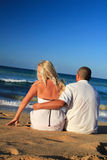 Couple on caribbean beach Stock Image