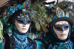 Couple in Carnival costumes, Venice, Italy royalty free stock images