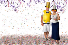 Couple at Carnival party. Brazilian couple at Carnival party background Royalty Free Stock Photos