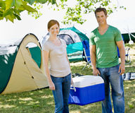 Free Couple Carrying Cooler Royalty Free Stock Photography - 7329647