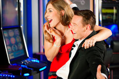 Couple in Casino Stock Photos