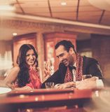 Couple in a casino Royalty Free Stock Image