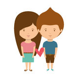 Couple with casual clothes inlove Royalty Free Stock Photography