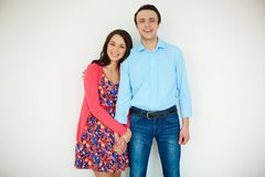 Couple in casual Stock Photography