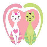 Couple cats Stock Images