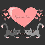 Couple of cats in love Royalty Free Stock Image