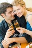 Couple celebrating Stock Photo