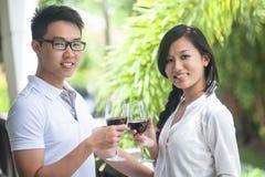 Couple celebrating Royalty Free Stock Photo