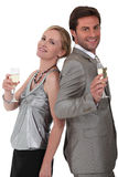 Couple celebrating Stock Photo