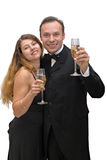 Couple celebrating Royalty Free Stock Photos