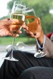 Couple celebrating Royalty Free Stock Images