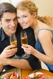 Couple celebrating Royalty Free Stock Photography