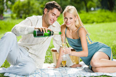 Couple celebrating Stock Photos