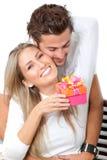 Couple celebrating Stock Photography