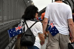 A couple celebrating Australia Day in Sydney Stock Photos