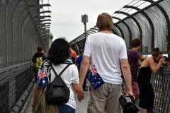 A couple celebrating Australia Day in Sydney Stock Photography