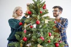 Couple celebrating christmas Royalty Free Stock Image