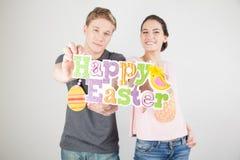 Couple celebrating easter Royalty Free Stock Photography