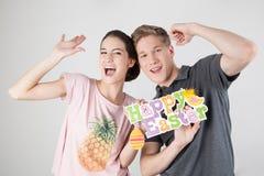 Couple celebrating easter Stock Image
