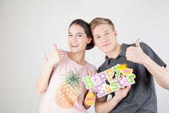 Couple celebrating easter Stock Images