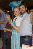 A couple celebrating on the famous Munich Strong Beer Festival. Royalty Free Stock Photo