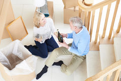Couple Celebrating Moving Into New Home With Champagne Royalty Free Stock Image