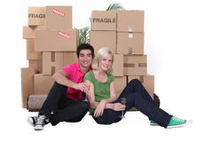 Couple celebrating new house Royalty Free Stock Photography