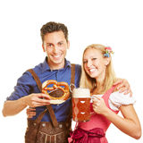 Couple celebrating Oktoberfest Royalty Free Stock Photography
