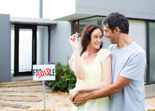 Couple celebrating their new house Royalty Free Stock Photography
