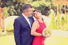 Couple celebrating their wedding day Stock Photo